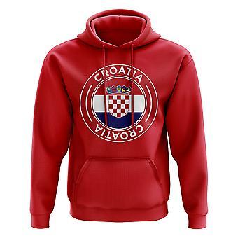 Kroatië voetbal Badge Hoodie (rood)