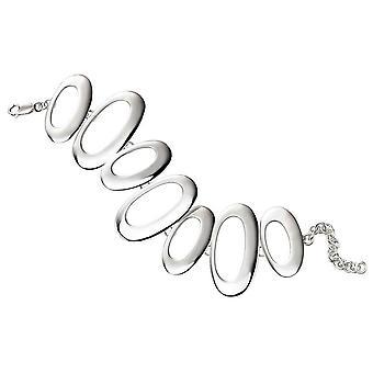Beginnings Open Oval Disc Bracelet - Silver