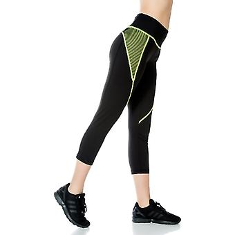 Jerf- Womens-nikko - Black And Yellow- Performance Leggings