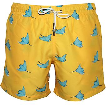 Apres Swimming Rays Swim Shorts, Lemon Yellow