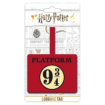 Harry Potter-platform 9 3/4 bagagelabel