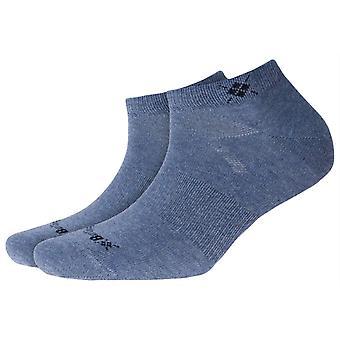 Burlington Everyday 2-pakning sneaker sokker-lys jeans blå