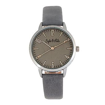 Sophie et Freda Vancouver Leather-Band Watch - Gris