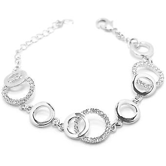VIP Silver Plated Crystal Set Circle Bracelet