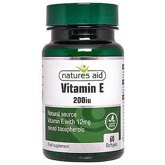 Natura ' s Aid vitamina E 200ui forma naturala Softgels 60 (12030)