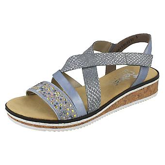 Ladies Rieker Wedge Sandals con tacco V3663