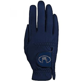 Roeckl Lisboa (chester Bling) Horse Riding Gloves - Navy Blue