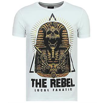 Rebel Pharaoh - Exclusieve T shirt Heren - 6322W - Wit