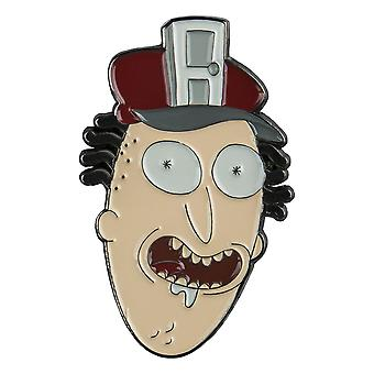 Rick en Morty Fake Doors Salesman emaille pins