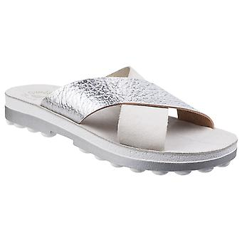 Fantasy Womens Charis Slip On Sandal Grey Volcano