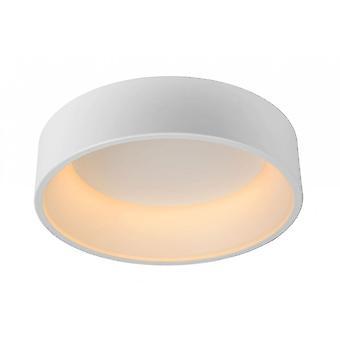 Lucide Talowe Modern Round White Flush Ceiling Light, 45mm