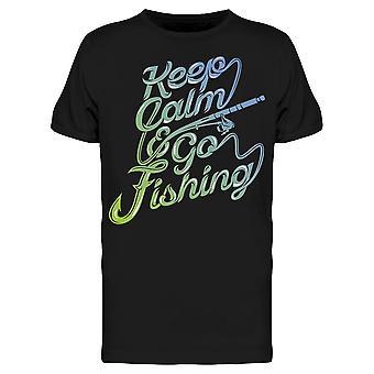الحفاظ على الهدوء والذهاب الصيد الرسم تي الرجال & apos;s -الصورة من قبل Shutterstock