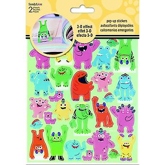 Sticker Pop-Up - Monsters 3D New Toys Games st5125