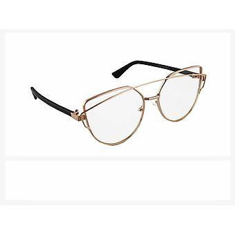Sunglasses UV 400 Cat Eye Gold TransparantHL200BP