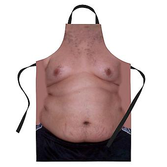 Funny Naked Fat Man Printed Baking Apron Cooking Gifts For BBQ
