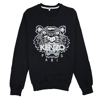 Kenzo Tiger Mono Chrome Sweatshirt Black