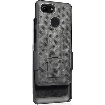 Verizon Shell Holster combo Google Pixel 3 XL-Musta