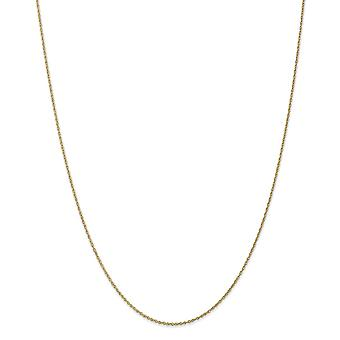 10k κίτρινο χρυσό δαχτυλίδι άνοιξη .8mm Lite κολιέ αλυσίδασ σχοινιών μωρών - Μήκος: 14 έως 24