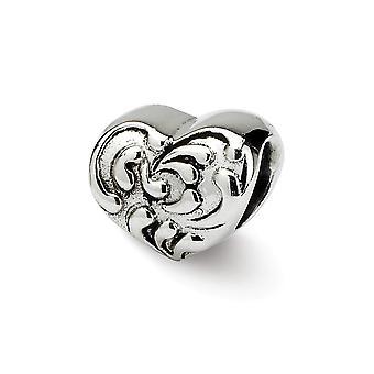 925 Sterling Sølv Refleksjoner SimStars Scroll Kjærlighet Hjerte Perle Sjarm Anheng Halskjede Smykker Gaver til Kvinner