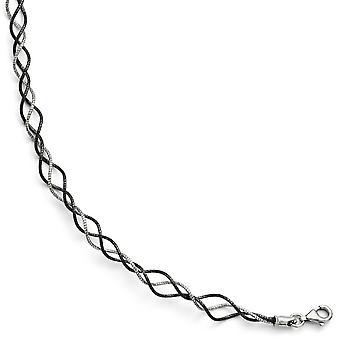Rutenium plätering Fancy hummer stängning och rutenium förkromat Twisted med 1,5 tums Ext. armband - 7 tum