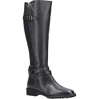 Riva Womens Athens Soft Leather Full Zip Up Long Boots