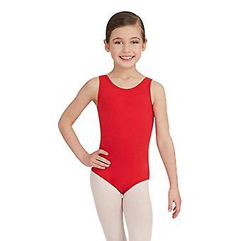 Capezio Big Girls' Tank Leotard, Red, M (8-10), Red, Size Medium (8-10)