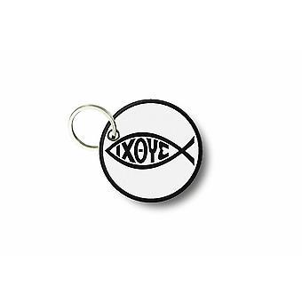 CLE Cles avain Brode patch Ecusson symboli Ioxe Fish Jesus Chretien