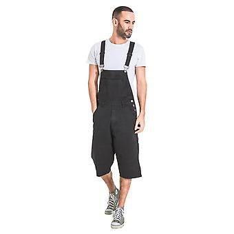Blake mens dungaree shorts - black