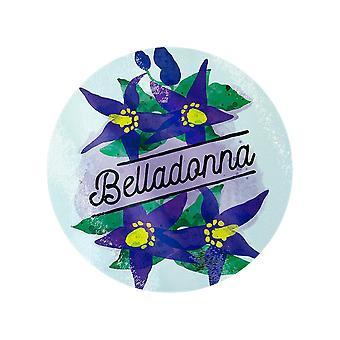 Deadly Detox Belladonna Circular Glass Chopping Board (en)