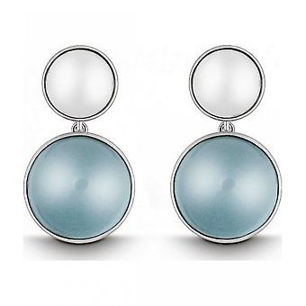 QUINN - Earrings (Pair) - Women - Silver 925 - Gemstone - Blue Topas - 35058958