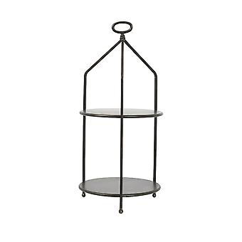 Light & Living Etagere 2 Layers Ø30X66 Cm Aurdal Black