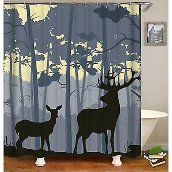 Simply Wholesale Deer Shower Curtain