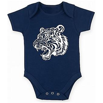 Body neonato blu navy fun4040 tiger head
