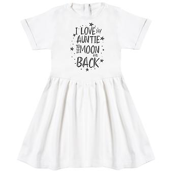 I Love My Auntie To The Moon And Back Baby Dress