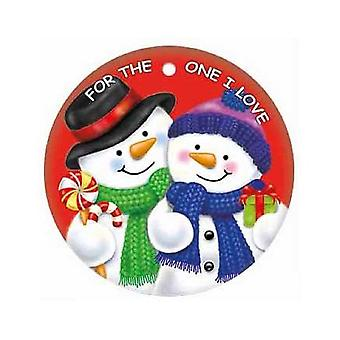 For The One I Love Round Metal Christmas Sign