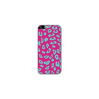 Hull Made In France Leopard Grey-Blue And Pink For Apple Phone 5