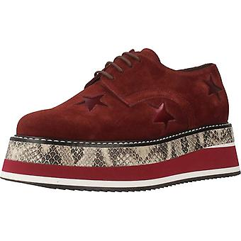 Gelbe Casual Schuhe Lady Star Color Bordeaux