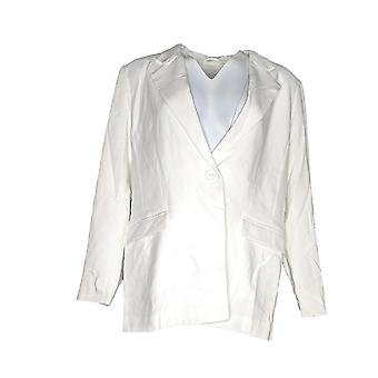 Linea di Louis Dell'Olio Women's One Button Blazer White A302542