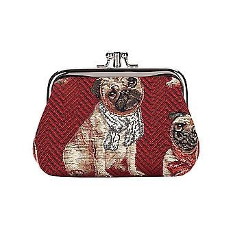 Pug coin purse by signare tapestry / frmp-pug