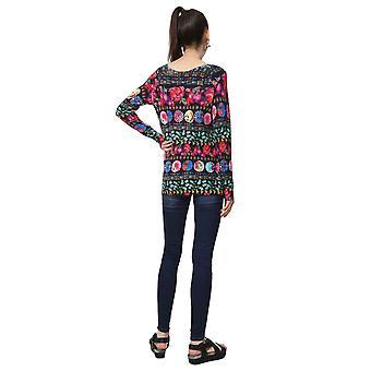 Desigual Women-apos;s Nedeerman Floral Oriental Parasol Sweater