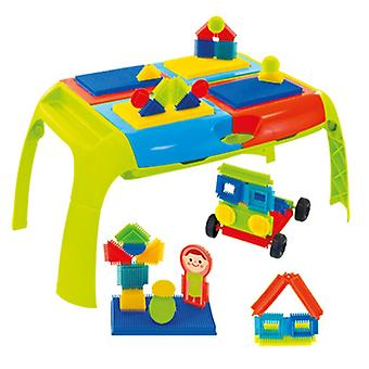 Mochtoys klappbarer Spieltisch, Fahrzeuge/Figuren, 4 Fächer ab 1 Jahr 11200