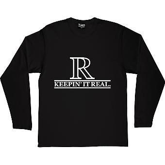 Keepin-apos; It Real Black Long-Sleeved T-Shirt