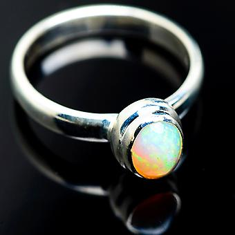 Natural Ethiopian Opal Rings 9 (925 Sterling Silver)  - Handmade Boho Vintage Jewelry RING985020