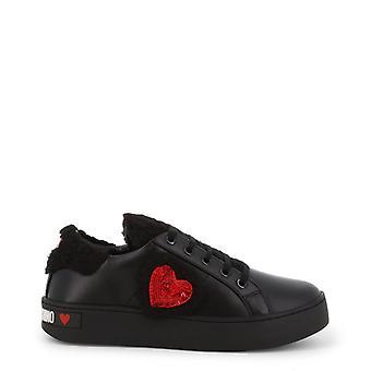 Amore moschino donne's scarpe da ginnastica - ja15543g08jdx, nero