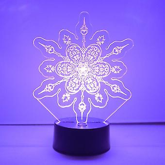 Winter Snowflake Colour Changing LED Acrylic Light - Hearts