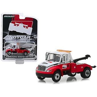 International Durastar Tow Truck White and Red IndyCar Series Hobby Exclusive 1/64 Diecast Model par Greenlight