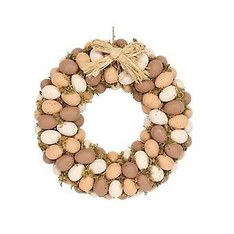 Speckled Egg Moss Easter Wreath Decoration by Gisela Graham