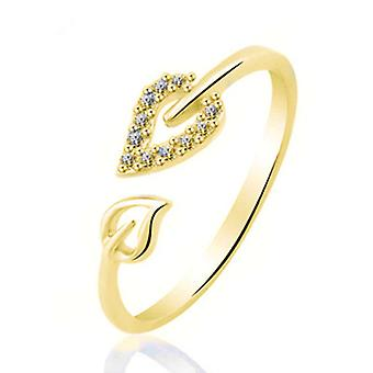 Luxury Leaves Design Gold Ring