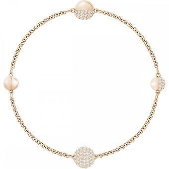 Swarovski Remix Rose Gold Tone Plated & White Crystal Bracelet
