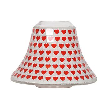 Aroma Red Heart Candle Jar Lamp